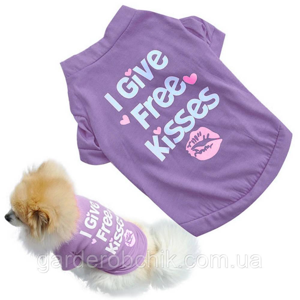 """Футболка """"Воздушный поцелуй"""" для собаки, кошки. Одежда для собак, кошек"""