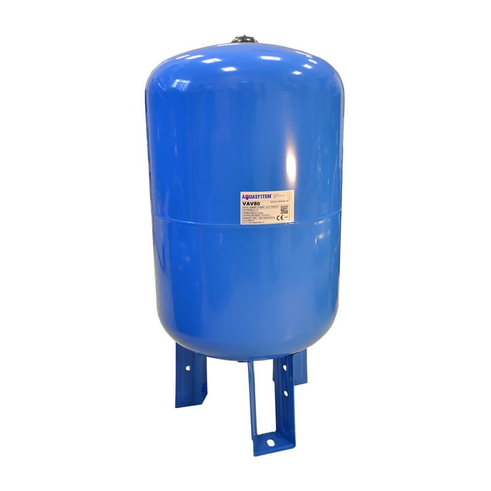 Гидроаккумуляторы для систем водоснабжения Aquasystem  VAV 80, 80 л. вертикальный