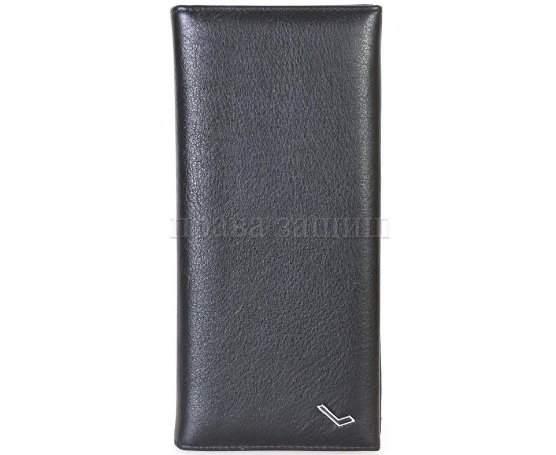 Мужской кожаный кошелек черный WATER LILY WL-0714