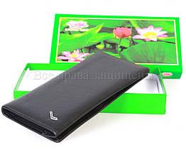 Мужской кожаный кошелек черный WATER LILY WL-0714, фото 2
