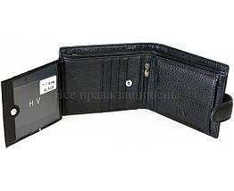 Мужской кожаный кошелек черный H. Verde 536HV, фото 2