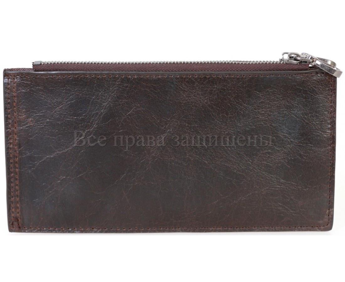 Кожаный кошелек унисекс кофейный NAVI-BAGS NV-K9852-black-cofee