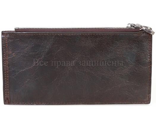 Кожаный кошелек унисекс кофейный NAVI-BAGS NV-K9852-black-cofee, фото 2