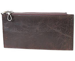 Кожаный кошелек унисекс кофейный NAVI-BAGS NV-K9852-black-cofee, фото 3