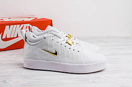 Размер 42, 44 и 45 !!! Мужские кроссовки Nike Tiempo Vetta All White / найк / реплика (1:1 к оригиналу)