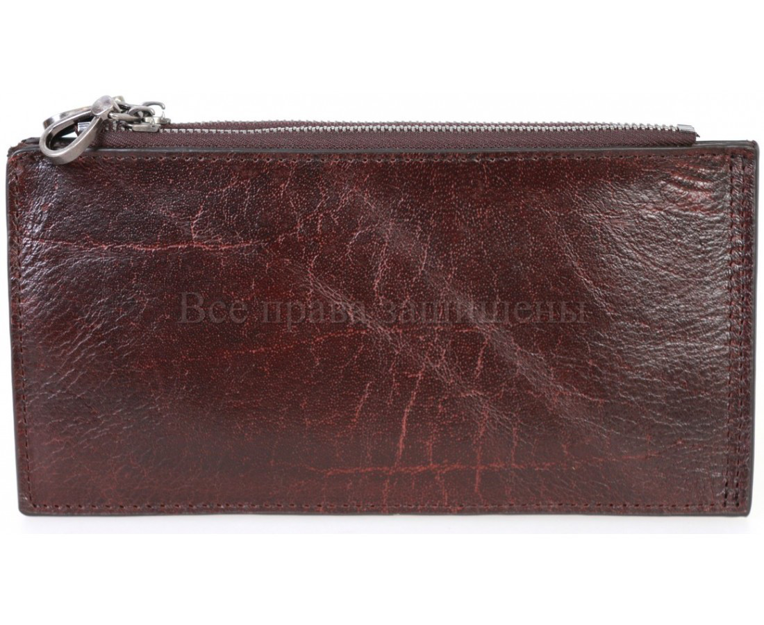 Кожаный кошелек унисекс бордовый NAVI-BAGS NV-K9852-Red-Cofee