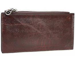 Кожаный кошелек унисекс бордовый NAVI-BAGS NV-K9852-Red-Cofee, фото 2