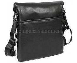 Мужская кожаная сумка через плечо черный (Формат: больше А5) H.T.-Leather HT-9330-3, фото 3