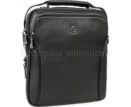 Мужская кожаная сумка через плечо черный (Формат: больше А5) H.T.-Leather HT-5386-3, фото 3