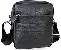 Мужская кожаная сумка черный (Формат: больше А5) NAVI-BAGS NV-3921