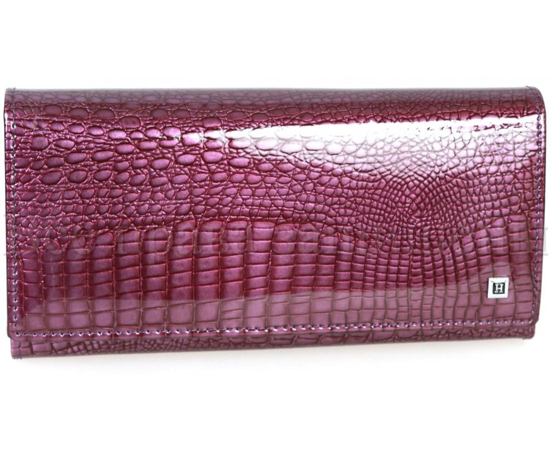 Женский кожаный кошелек фиолетовый Horton H-AE150-dark-purrple