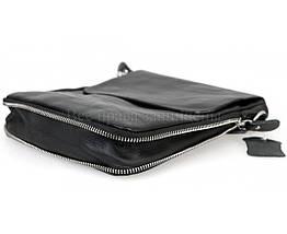 Мужская кожаная сумка через плечо черный (Формат: меньше А5) NAVI-BAGS NV-081388-black, фото 2