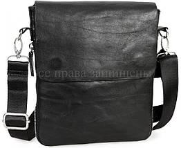Мужская кожаная сумка через плечо черный (Формат: меньше А5) NAVI-BAGS NV-081388-black, фото 3