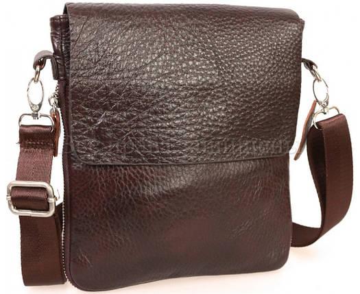 Мужская кожаная сумка через плечо коричневый (Формат: меньше А5) NAVI-BAGS NV-081388-cofee, фото 2