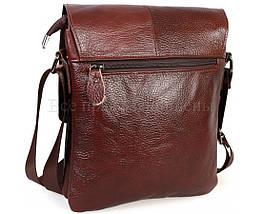 Мужская кожаная сумка через плечо коричневый (Формат: А5) NAVI-BAGS NV-08138-cofee, фото 3