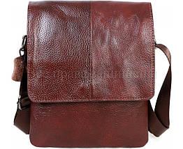 Мужская кожаная сумка через плечо коричневый (Формат: А5) NAVI-BAGS NV-08138-cofee, фото 2
