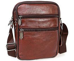 Чоловіча шкіряна сумка коричневий (Формат: менше А5) NAVI-BAGS NV-2366-Brown, фото 3