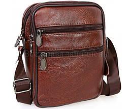 Чоловіча шкіряна сумка коричневий (Формат: менше А5) NAVI-BAGS NV-2366-Brown, фото 2