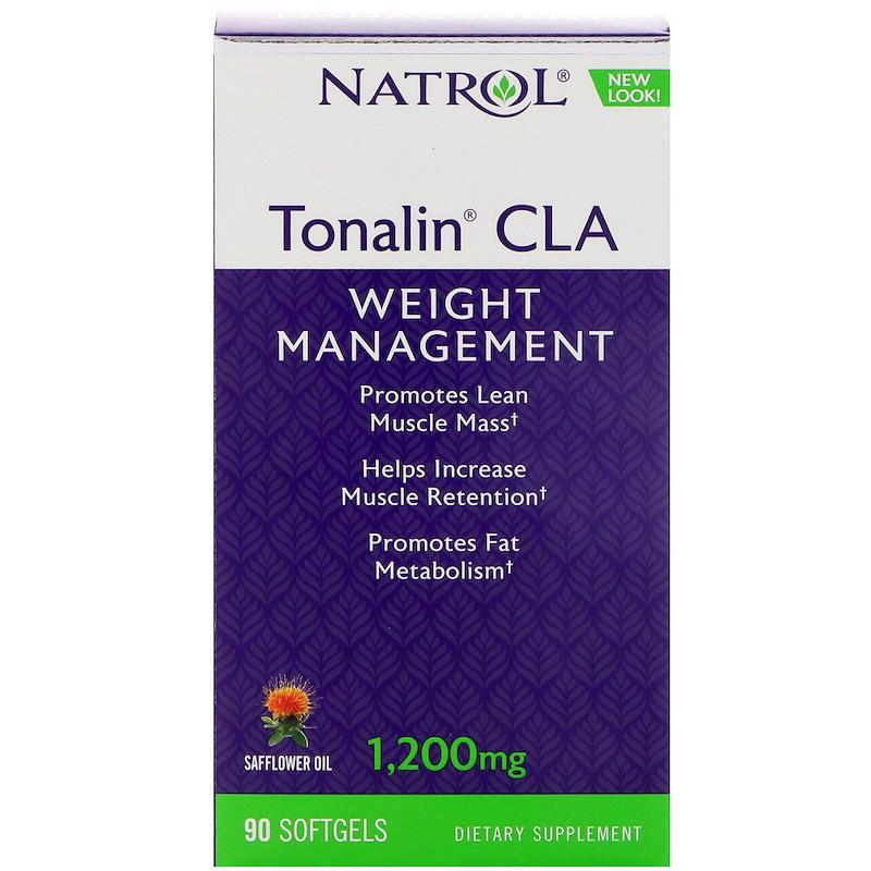 Natrol, Tonalin с содержанием сопряженной линолевой кислоты (CLA), 90 капсул