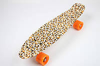 Скейт Пенни Борд Print, Penny Board Original 22 c Рисунком Leopard/Леопард