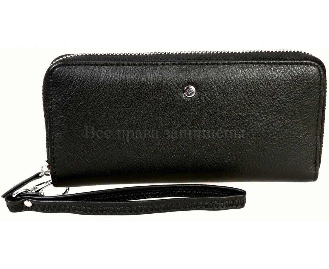 Женский кожаный кошелек черный Salfeite A-W38BLACK