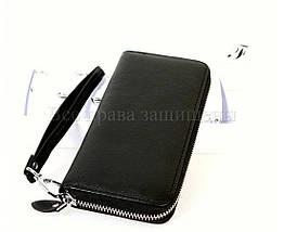 Женский кожаный кошелек черный Salfeite A-W38BLACK, фото 2