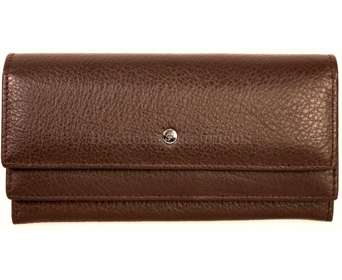 Женский кожаный кошелек кофейный Salfeite A-W79COFEE