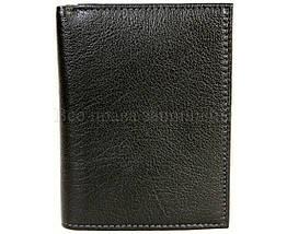 Мужской кожаный кошелек черный MD-leather MD22-633, фото 2