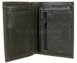 Мужской кожаный кошелек черный MD-leather MD22-633, фото 3
