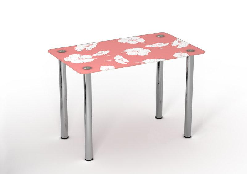 Стол обеденный стеклянный Нежность 90х65 (Sentenzo TM)