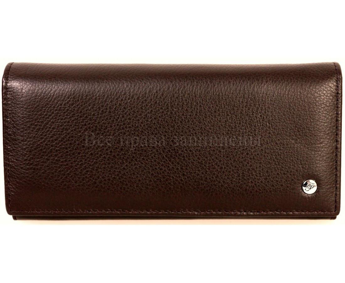 Женский кожаный кошелек кофейный Salfeite A-B150COFEE