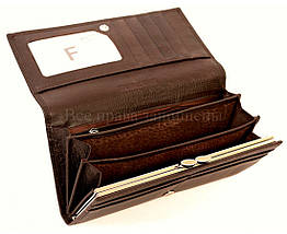 Женский кожаный кошелек кофейный Salfeite A-B150COFEE, фото 3