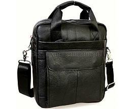 Чоловічий шкіряний портфель чорний (Формат: А4 і більше) NAVI NVP-0216-Black, фото 3