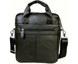 Чоловічий шкіряний портфель чорний (Формат: А4 і більше) NAVI NVP-0216-Black, фото 2