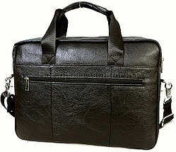 Чоловічий шкіряний портфель чорний (Формат: А4 і більше) NAVI NVP-0213-Black, фото 3