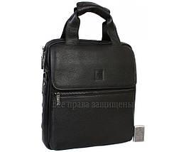 Чоловіча шкіряна сумка чорний (Формат: більше А4) Savio Savio-5010-2, фото 2
