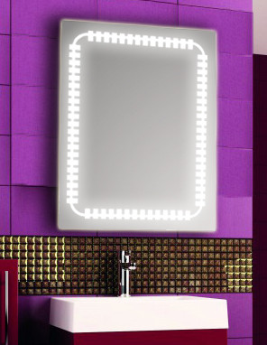 Зеркало с LED подсветкой настенное d64 600х800 мм Лед