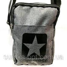 Текстильные барсетки джинс Converse (серый)13*19