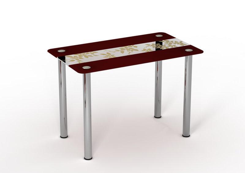 Стол обеденный стеклянный Китайский Шелк 90х65 (Sentenzo TM)
