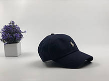 Кепка бейсболка Polo Ralph Lauren  темно-синяя, белый лого зимняя, фото 3