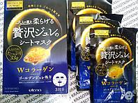 ЯПОНИЯ Премиум маска с 2 видами коллагена супер эффект желейная маска-салфетка для лица, фото 1