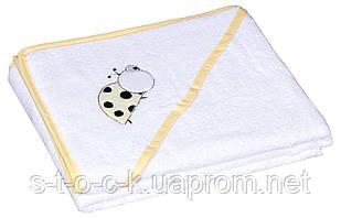 Полотенце Baby Nito BN-100 100x100  белый (божья коровка)