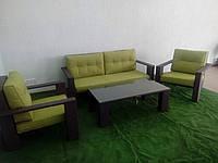 Набор из ротанга, софа, 2 кресла и столик