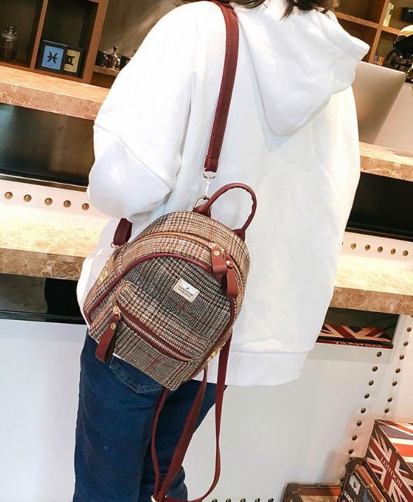 рюкзак мини рыжий