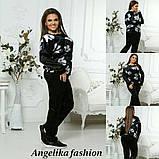 Велюровый женский модный спортивный костюм, фото 3