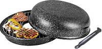Оригинальная сковорода гриль газ С мраморным антипрегарным покрытием