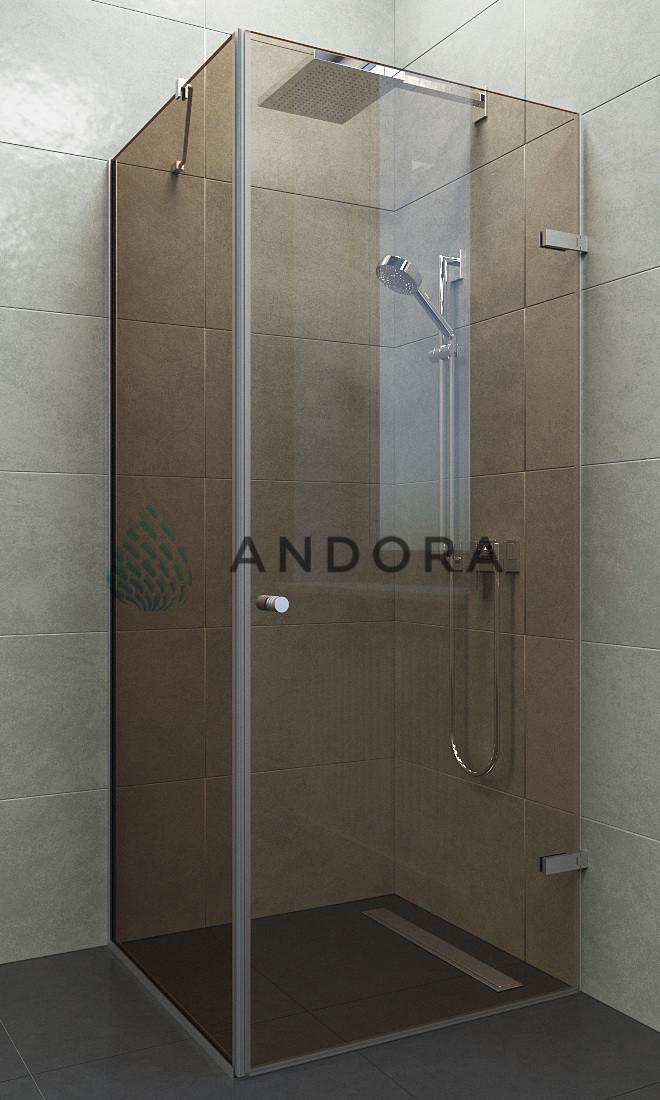 Душевая кабина Andora Breeze 80x80x200 стекло bronze L / R