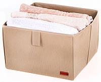 Ящик-органайзер для хранения вещей L. Короб. Цвет Бежевый.