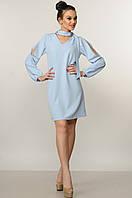 Платье летнее Бохо голубой Ри Мари р.42-52