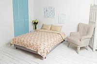 Полуторный постельный комплект поплин (пододеяльник, наволочки, простынь) ТМ Руно 1.115English style